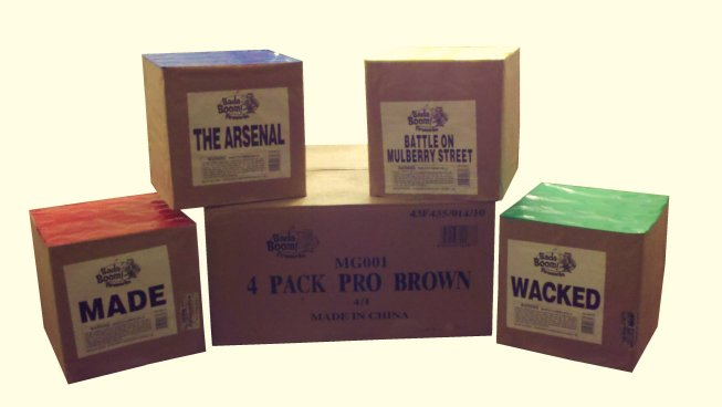 4 PACK PRO BROWN ASSORTMENT
