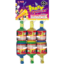 PARTY POPPERS PACK OF 6